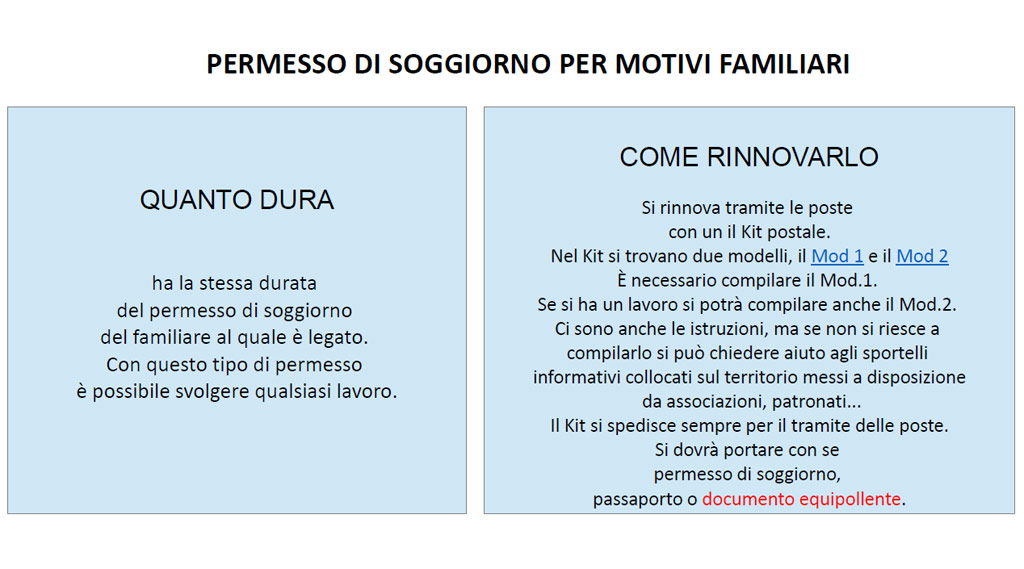 Awesome Carta Soggiorno Per Motivi Familiari Photos - Amazing ...