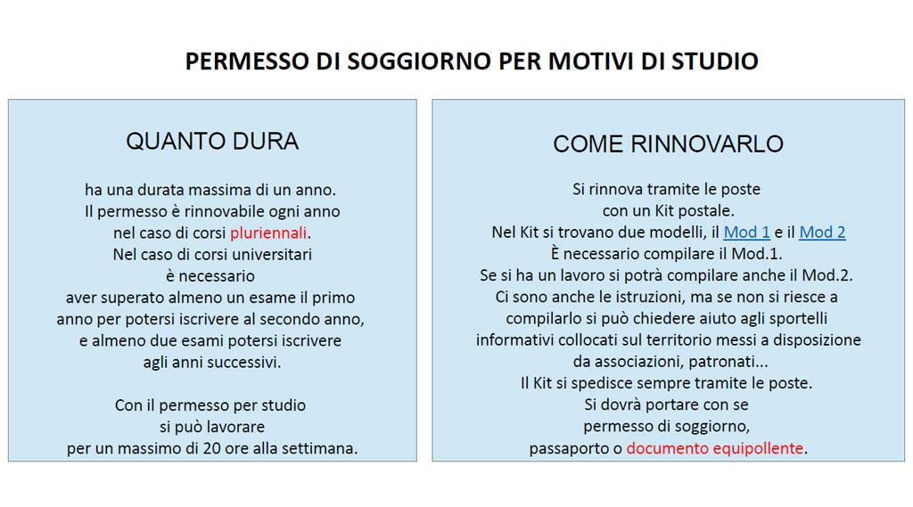 PERMESSO DI SOGGIORNO PER MOTIVI DI STUDIO   Benvenuti a Caserta